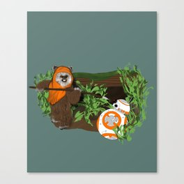 Wicket Meets BB-8 Canvas Print