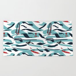 A Day on the Water Beach Towel