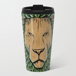Wood Lion Travel Mug