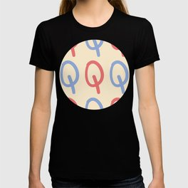 Upper Case Letter Q Pattern T-shirt