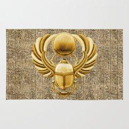 Gold Egyptian Scarab Rug