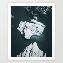 Jokulsarlon Lagoon Iceland Art Print