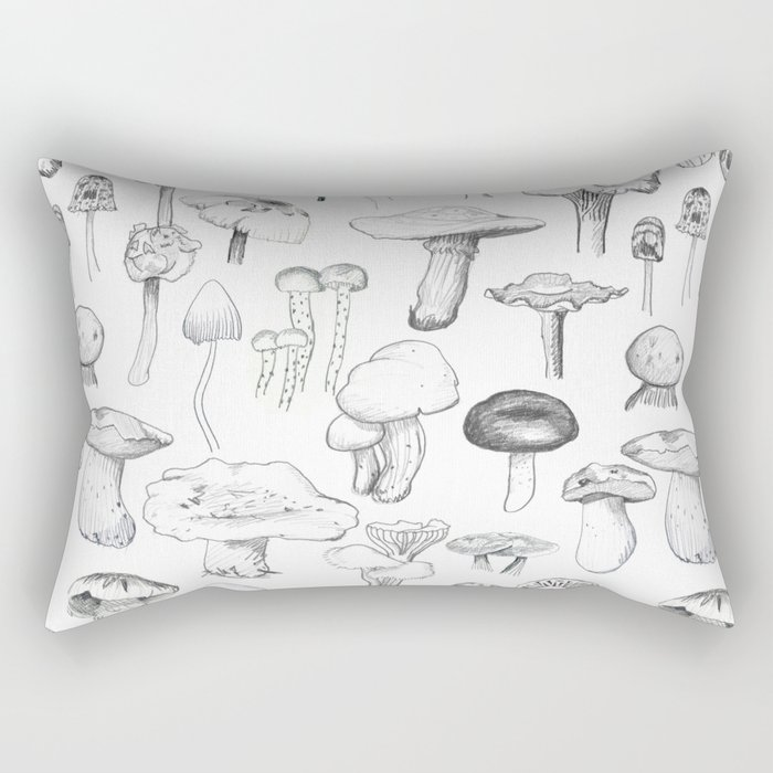 The mushroom gang Rectangular Pillow
