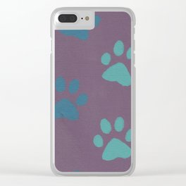 Pawing at your Heart Clear iPhone Case