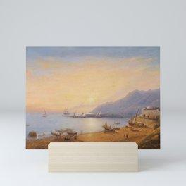 Wilhelm Brücke, The Bay of Salerno Mini Art Print