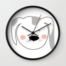 Dog Face Illustration Wall Clock