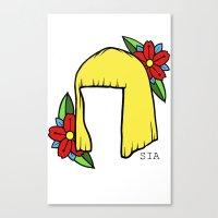 sia Canvas Prints featuring SIA BOB 2 by Melina Espinoza