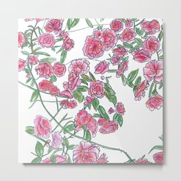 Wild Rose Bush Metal Print