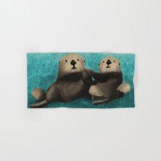 Sea Otters in Love Hand & Bath Towel