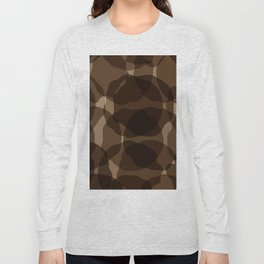 Brown abstract Long Sleeve T-shirt