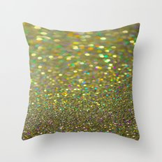 Partytime Gold Throw Pillow