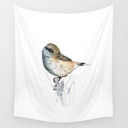 Mr Riroriro, the New Zealand Grey Warbler Wall Tapestry