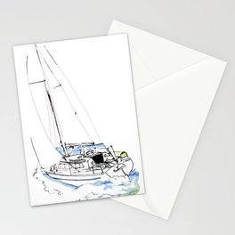 Cirrus/ Sailingboat Stationery Cards