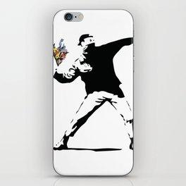 Banksy Flower Thrower iPhone Skin