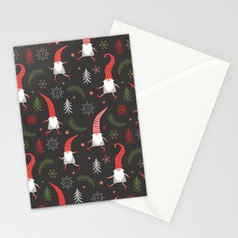 Cute Christmas Elves Stationery Cards