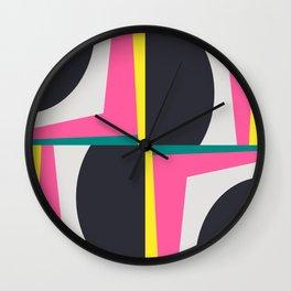 Modern Geometric 65 Pink Wall Clock