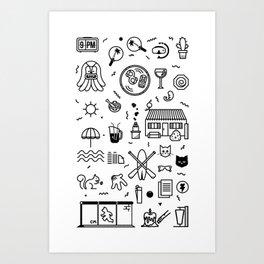 Summer Vectors Art Print