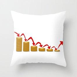 Falling Money Steps Throw Pillow