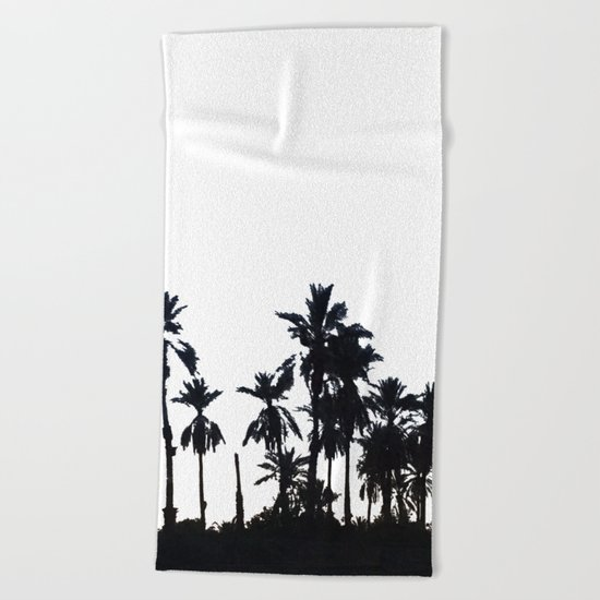 Date Palm Trees 3 Beach Towel