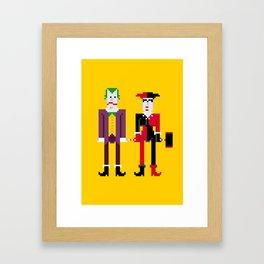 Joker and Harley Quinn Framed Art Print