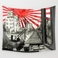 body Wall Tapestries featuring Body - Japan by Detullio Pasquale