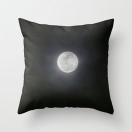 First Full Moon of 2018 Throw Pillow
