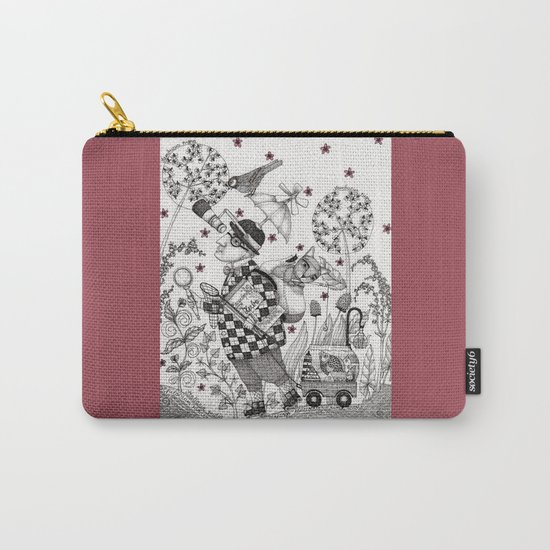 Mr. Hat goes to the Park Carry-All Pouch