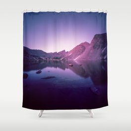 Billy's Lake Blue Hour Shower Curtain