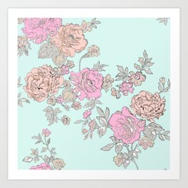 FLORAL HAPPINESS Art Print