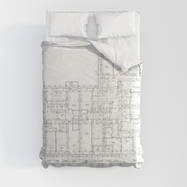 Detailed architectural floor layout Comforters