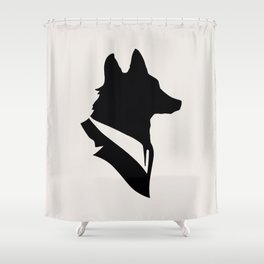 Monsieur Renard / Mr Fox - Animal Silhouette Shower Curtain