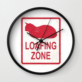 Loafing Zone Wall Clock