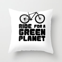 Ride For A Green Planet Throw Pillow