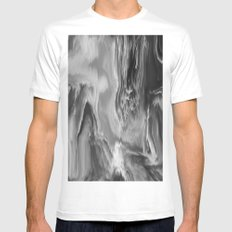Oblivion MEDIUM White Mens Fitted Tee
