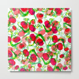 Tomatoes Pattern 2 Metal Print
