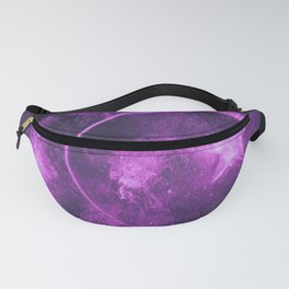 Symbol of Islam. Star and crescent moon. Abstract night sky background. Fanny Pack