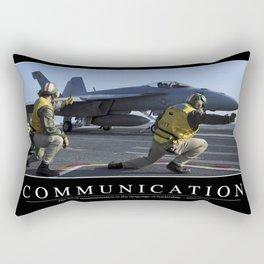 Communication: Inspirational Quote and Motivational Poster Rectangular Pillow