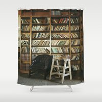 library Shower Curtains featuring Library by dekko