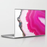 agate Laptop & iPad Skins featuring Pink Agate Slice by cafelab