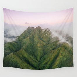 Clouds over the Koʻolau Mountains on Oahu Wall Tapestry