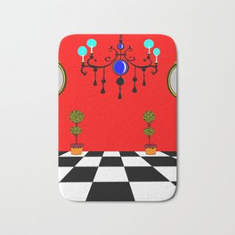 An Elegant Hall of Mirrors with Chandler and Topiary Bath Mat