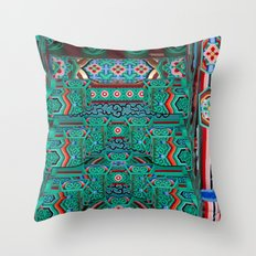 Eaves of a Buddhist Temple Throw Pillow