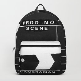 Film Movie Video production Clapper board Backpack