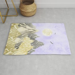 Pearl mountains Rug