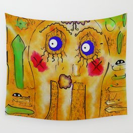Mr.Sea Jelly and his friend bloom Wall Tapestry
