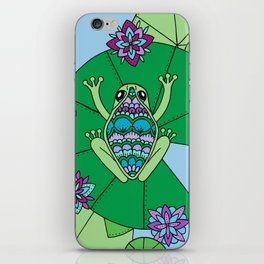 Frog and Lily Pads iPhone Skin