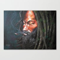 rasta Canvas Prints featuring Rasta by Bocese