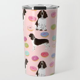 English Springer Spaniel donuts funny dog gifts perfect for spaniel owner pet portraits Travel Mug