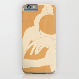 Girl Lying On The Beach 2 iPhone Case