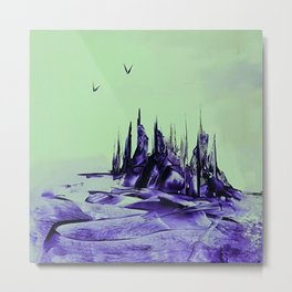 Purple alienscape Metal Print